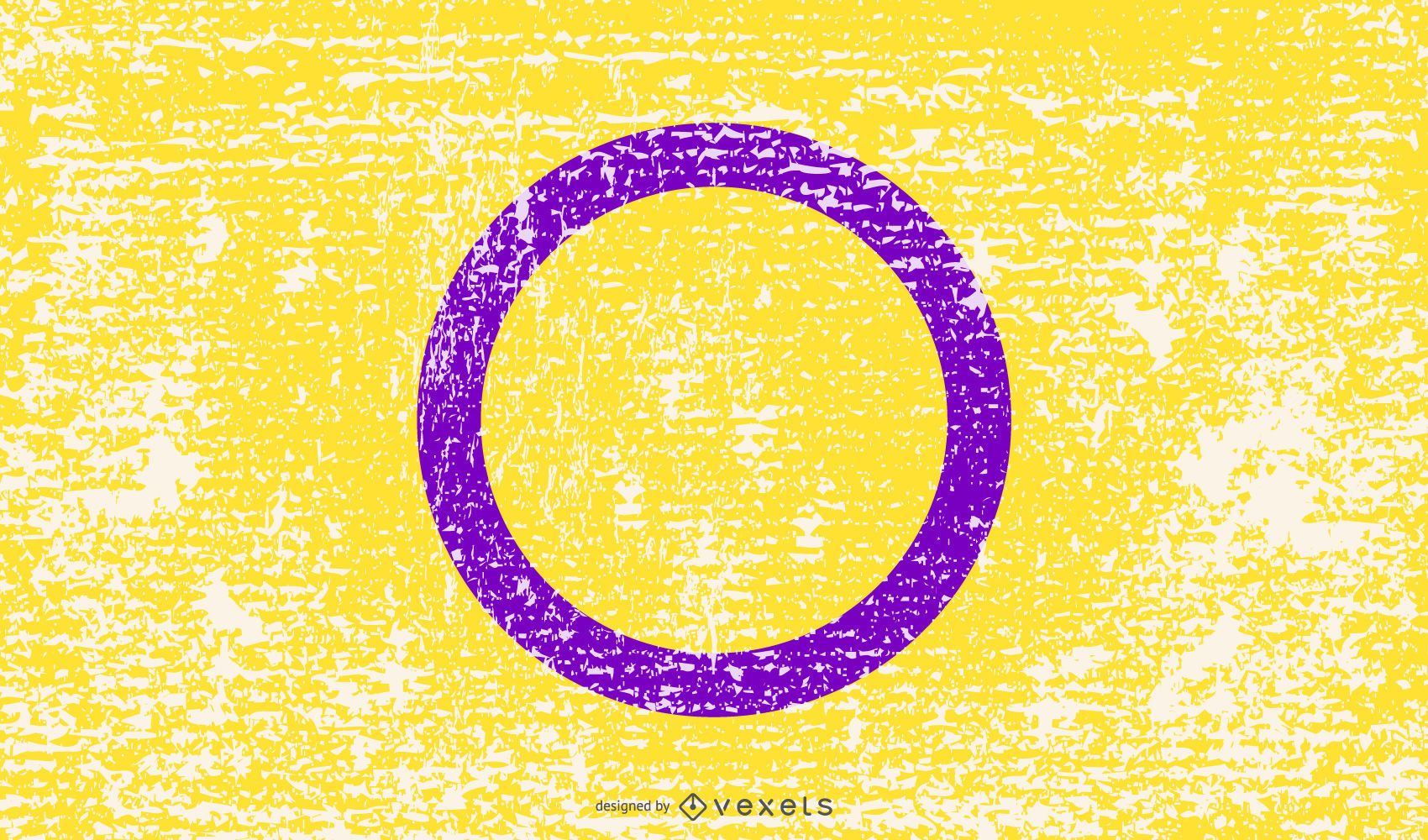 Bandeira do orgulho intersexual grunge
