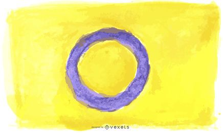 Intersex pride flag watercolor