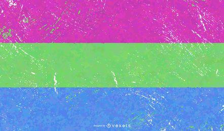 Grunge da bandeira do orgulho polsexual