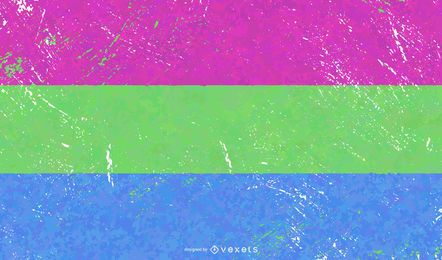 Grunge de bandeira do orgulho polisexual