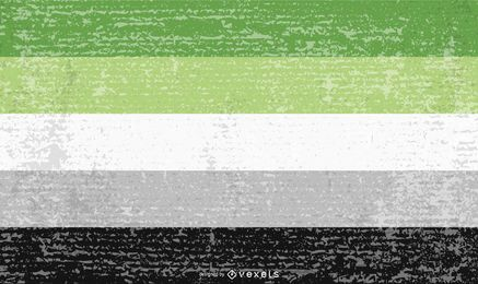 Aromantic pride flag grunge
