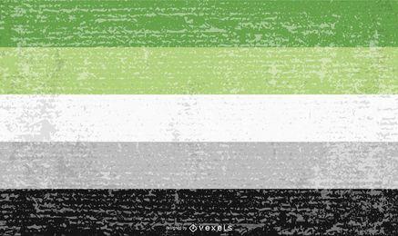 Grunge da bandeira do orgulho aromântico