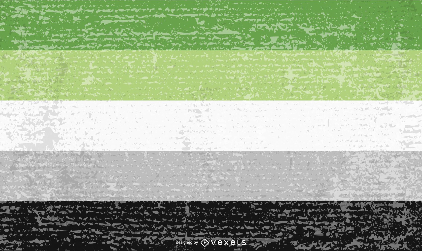 Aromantic pride flag grunge