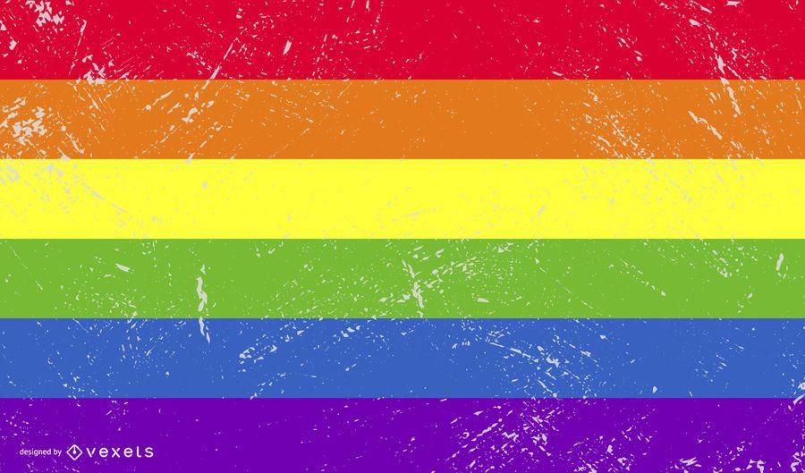 Bandeira do orgulho LGBT grunge