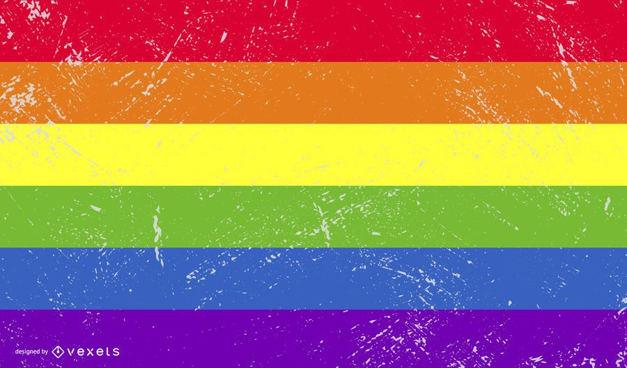 Bandera del orgullo lgbt grunge