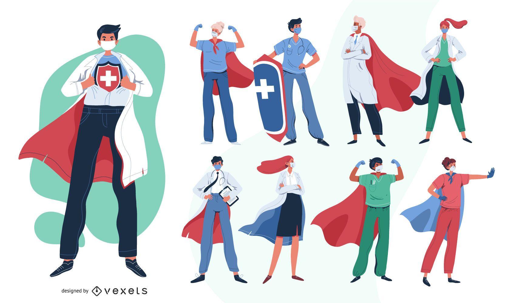 Doctors heroes character pack