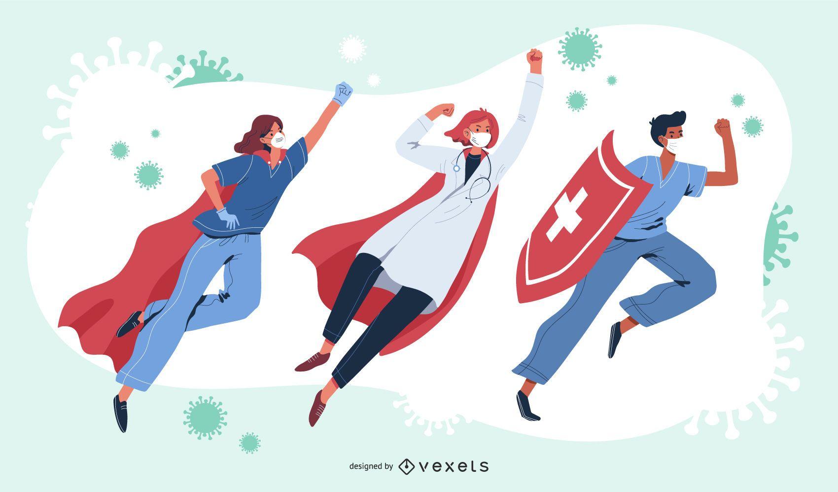 Super doctors character set