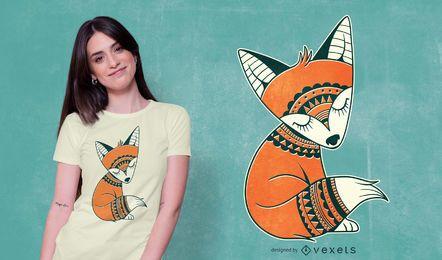 Diseño de camiseta lindo zorro tribal