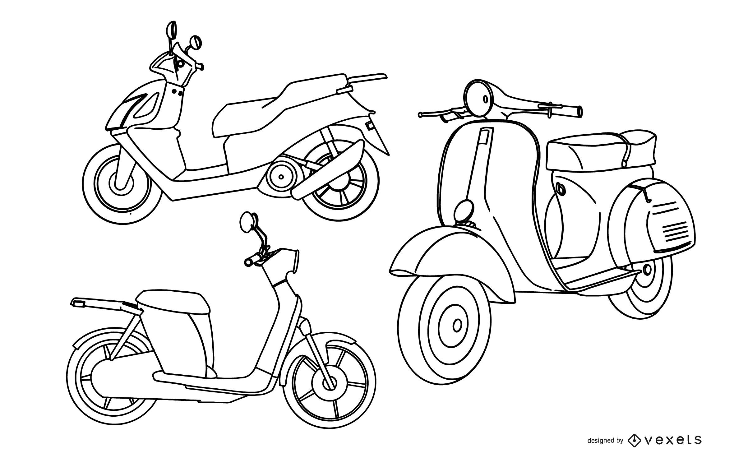 stroke scooter collection set