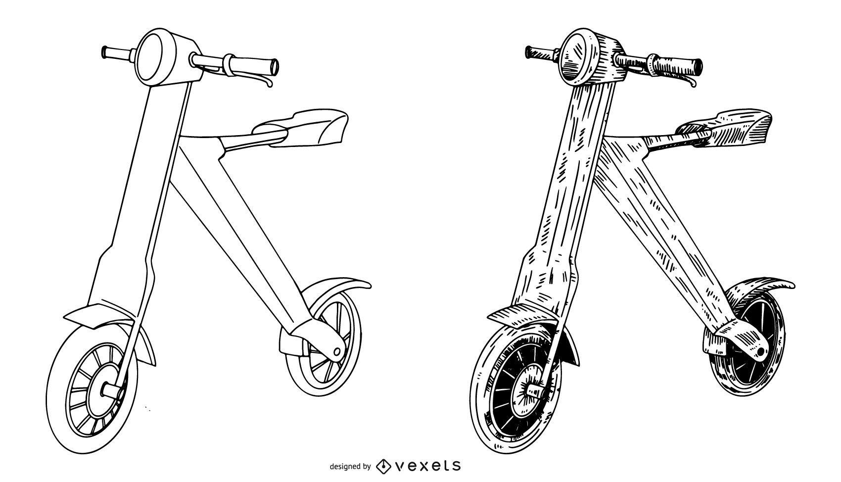 Scoot-e-bike Drawing Set