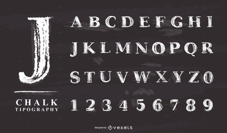 chalk alphabet letter set