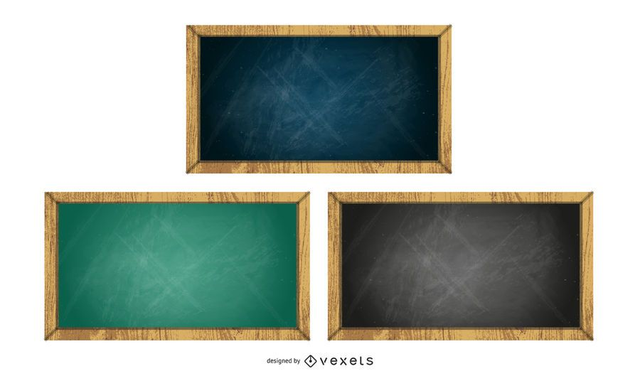 chalkboard set illustration