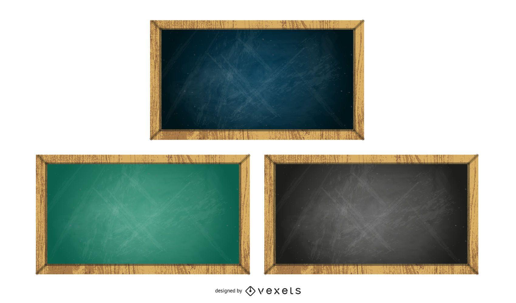 chalkboard set illustration