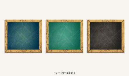 ilustração do conjunto de quadro-negro quadrado