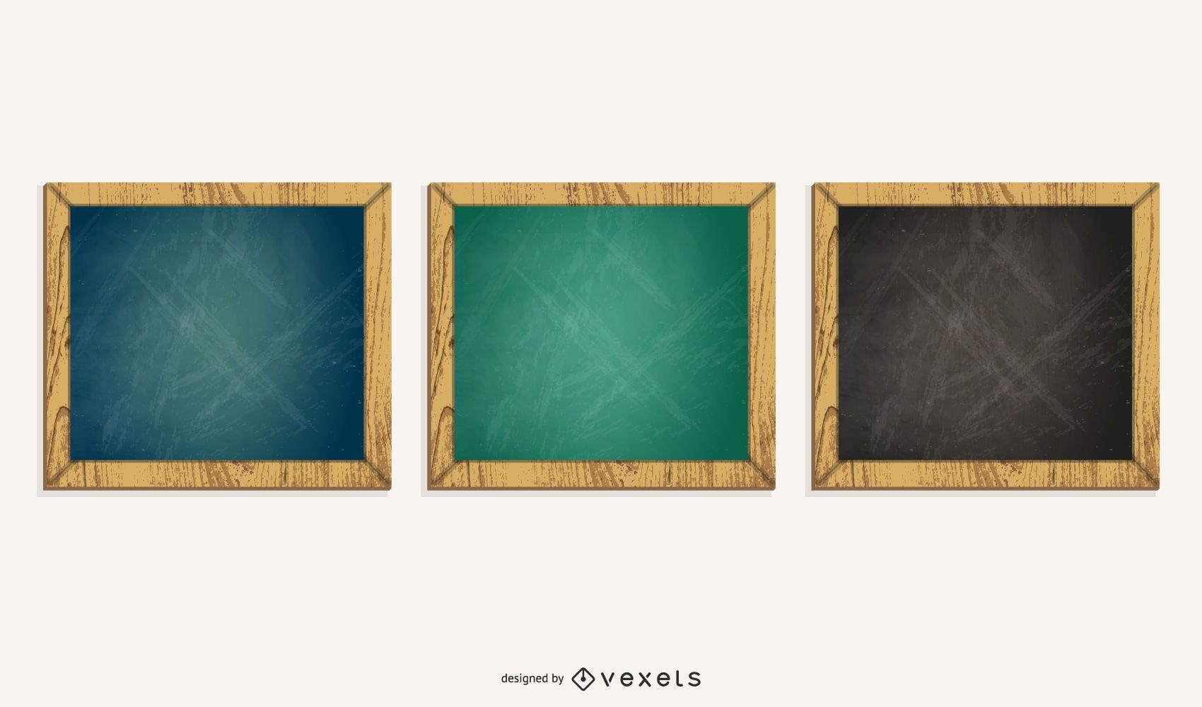 square chalkboard set illustration