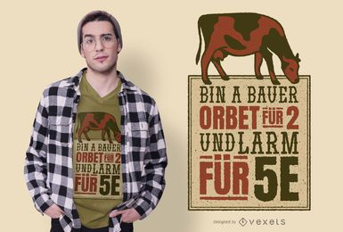 Diseño de camiseta de cita de granjero alemán