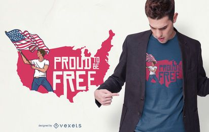 Freiheit Stolz T-Shirt Design