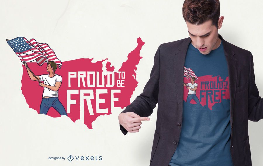 Diseño de camiseta Freedom Pride
