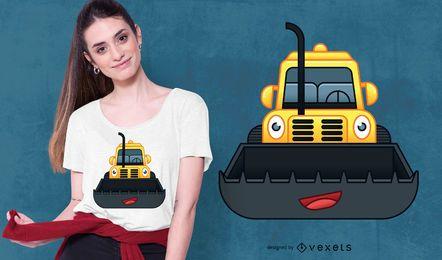 Projeto feliz do t-shirt da escavadora