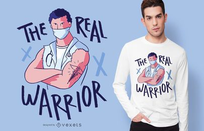 Projeto real do t-shirt do guerreiro