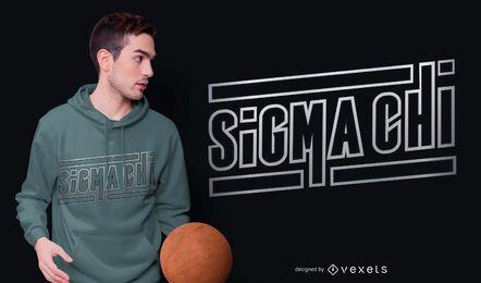 Diseño de camiseta de letras Sigma Chi