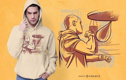 Design de t-shirt Boxer Speed Bag