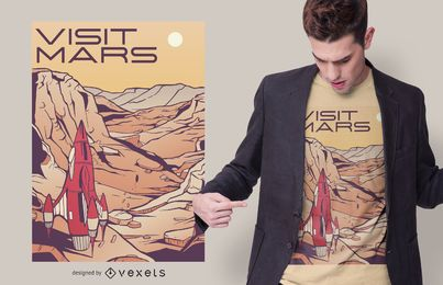 Diseño de camiseta Visit Mars