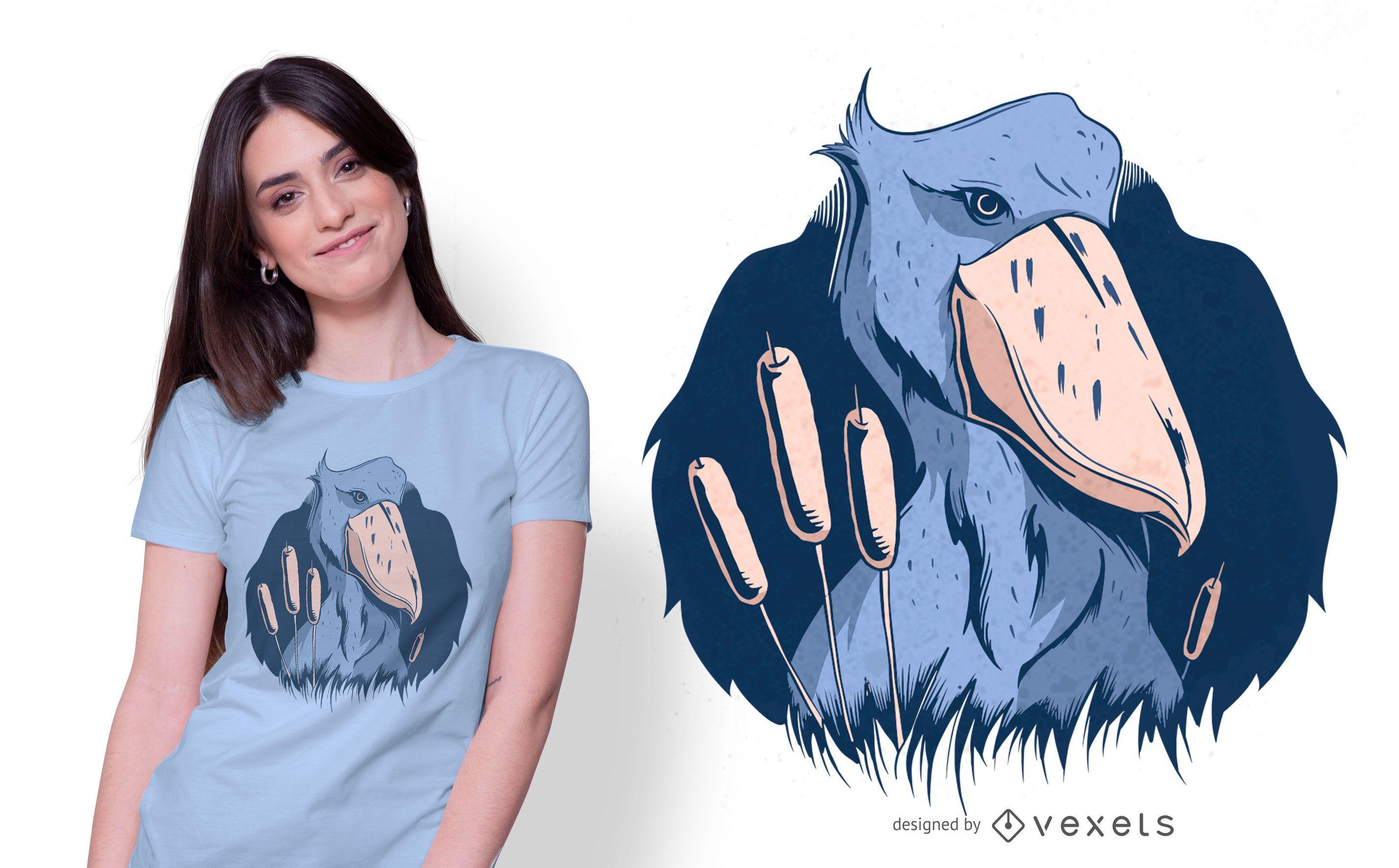 Shoebill Bird T-shirt Design