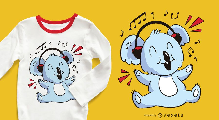 Music Koala T-shirt Design