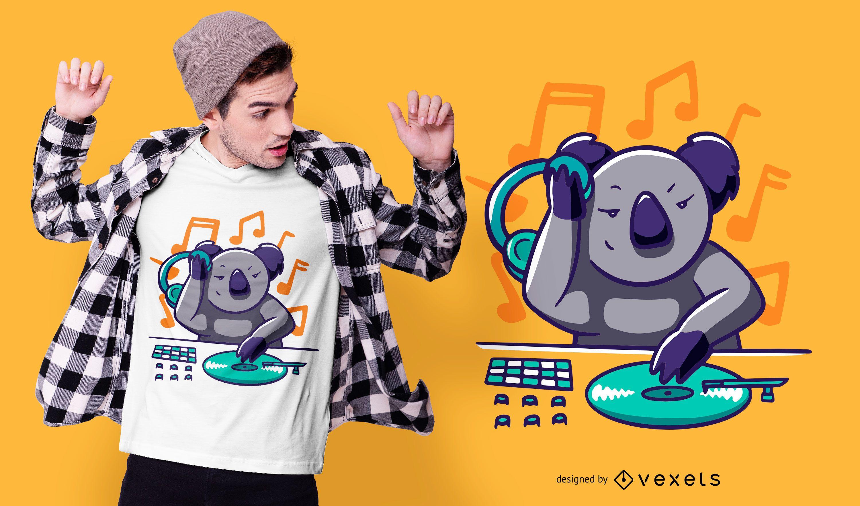 Koala DJ T-shirt Design