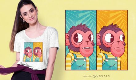 Design do t-shirt de Meme do macaco