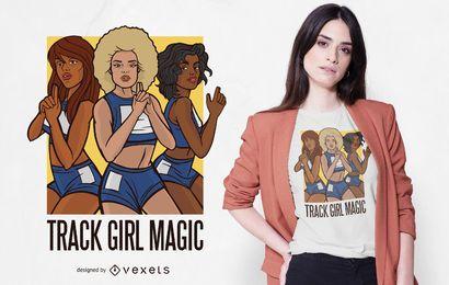 Track Girl Magic T-shirt Design