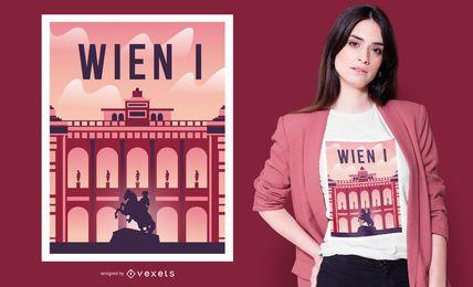 Diseño de camiseta del Palacio de Viena