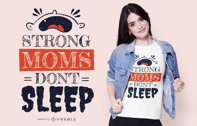 Projeto forte do t-shirt das mães