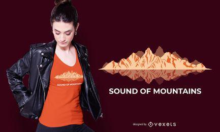 Som do design de camiseta de montanha