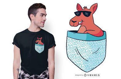 Design de camiseta de canguru de bolso