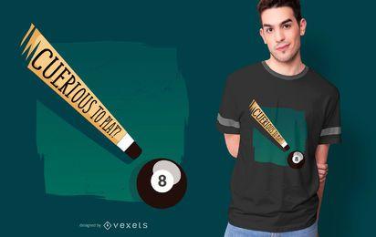 Diseño de camiseta de Pool Funny Quote