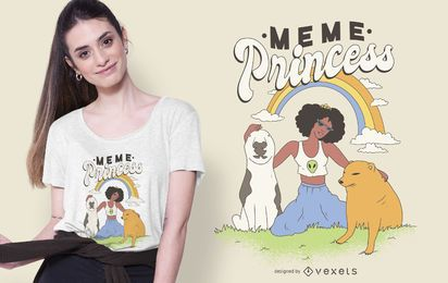 Meme Princess T-shirt Design