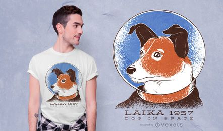 Design do t-shirt do cão de Laika