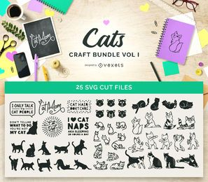 Pacote Cats Craft Vol I