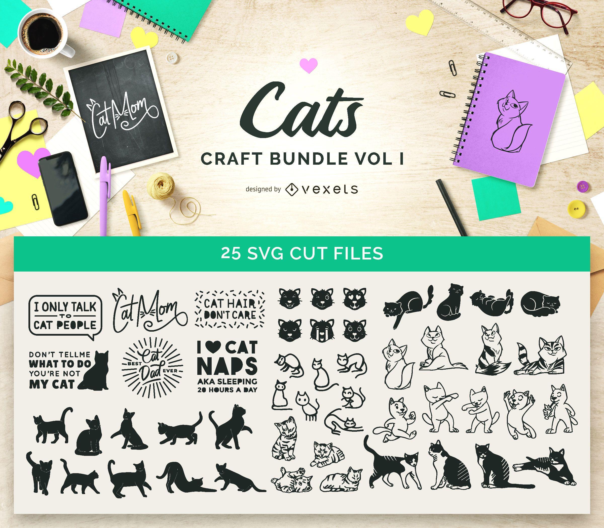 Paquete de manualidades para gatos Vol I