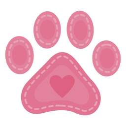 Awesome heart pawprint