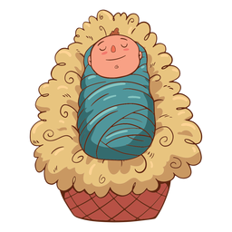 Baby Jesus Illustration