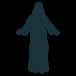 Vista posterior silueta de jesús