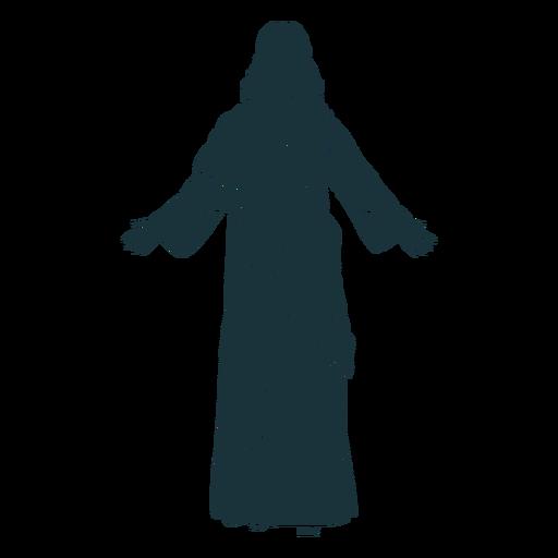 Back view jesus silhouette