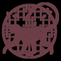 Composición de mono chino