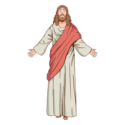 Closed eyes jesus illustration