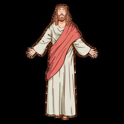 Geschlossene Augen Jesus Illustration