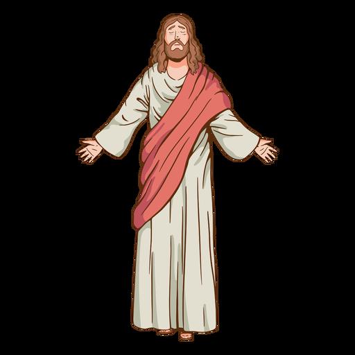 Ilustración de jesús de ojos cerrados