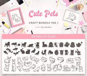 Pacote de artesanato para animais fofos, Vol I